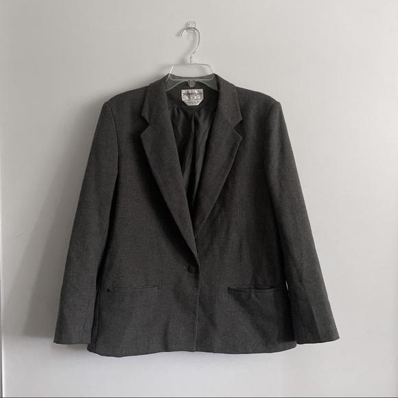 Dark gray blazer